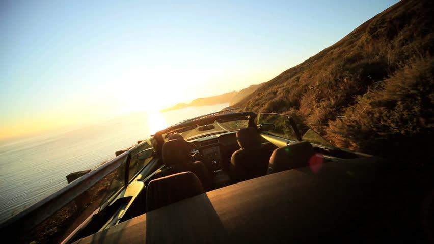 Luxury car road trip along Pacific highway | Shutterstock HD Video #2127041
