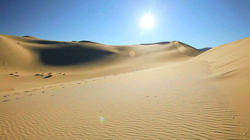 Desert sand dunes in a dry wilderness