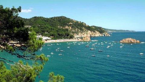 Picturesque sea coast, rocks, nature Spain