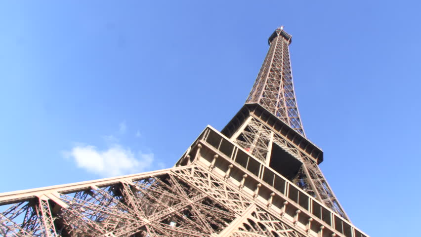 Low angle view on Eiffel Tower, Paris, France