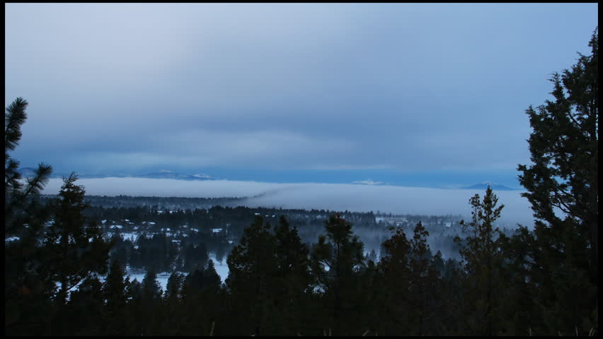 Valley Fog and Mountains Time-Lapse | Shutterstock HD Video #2131313