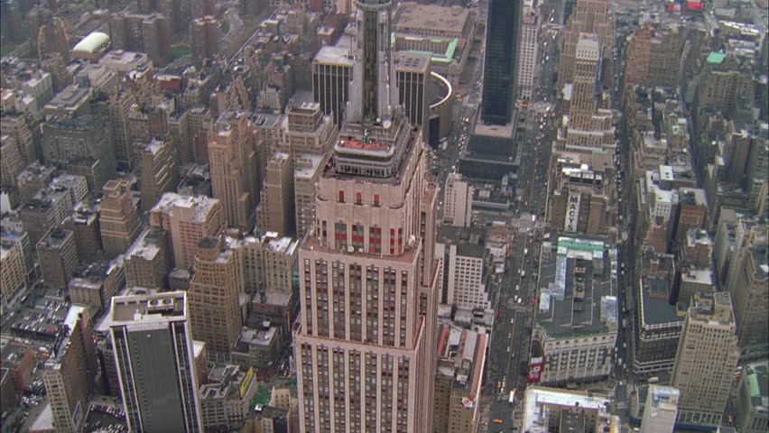 Day Aerial circling over Empire State Building, New York City | Shutterstock HD Video #21318373