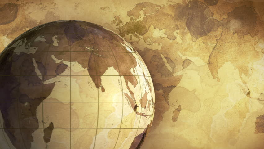Thai flag on pole on earth globe animation stock footage video vintage rotating globe and map of the world computer generated seamless loop motion background gumiabroncs Gallery