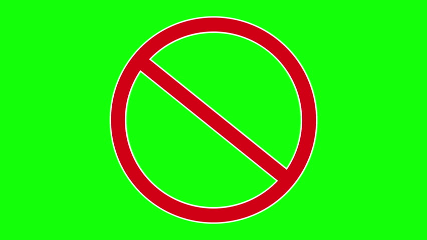 Red forbidden traffic sign. Available in FullHD and HD video 2D render footage.