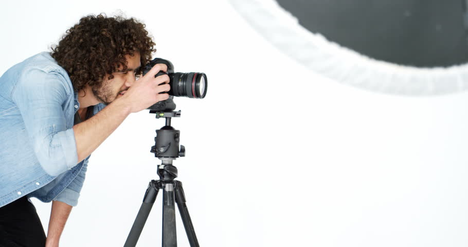 Photographer Taking Photo With Professional Stock Footage Video 100 Royalty Free 21346093