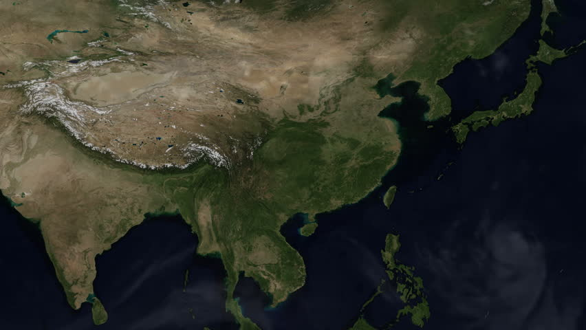 Map Of Asia Over Time.Map Of Asia Seasons Changing Stock Footage Video 100 Royalty