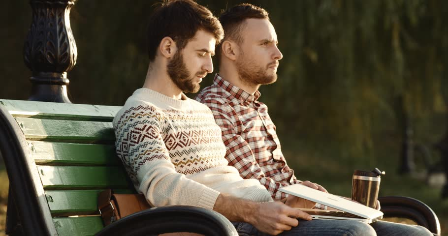 Image result for two guys talking on street