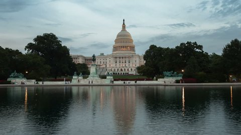 US Capitol Building timelapse, Washington DC.