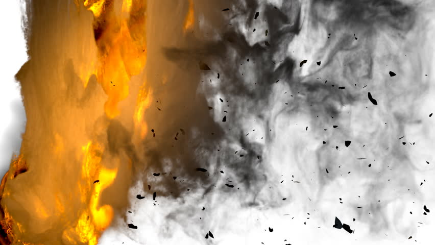 Fire transition, 3d animation. alpha included