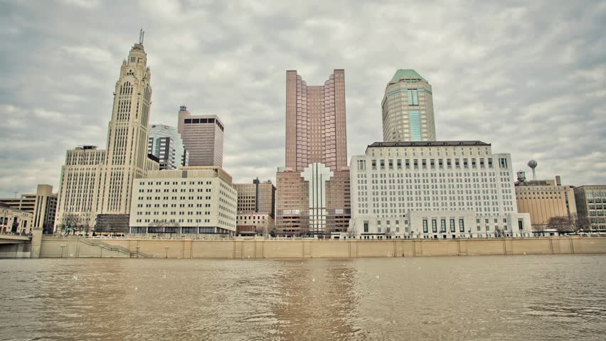 HDR time lapse of the Columbus, OH riverfront skyline.