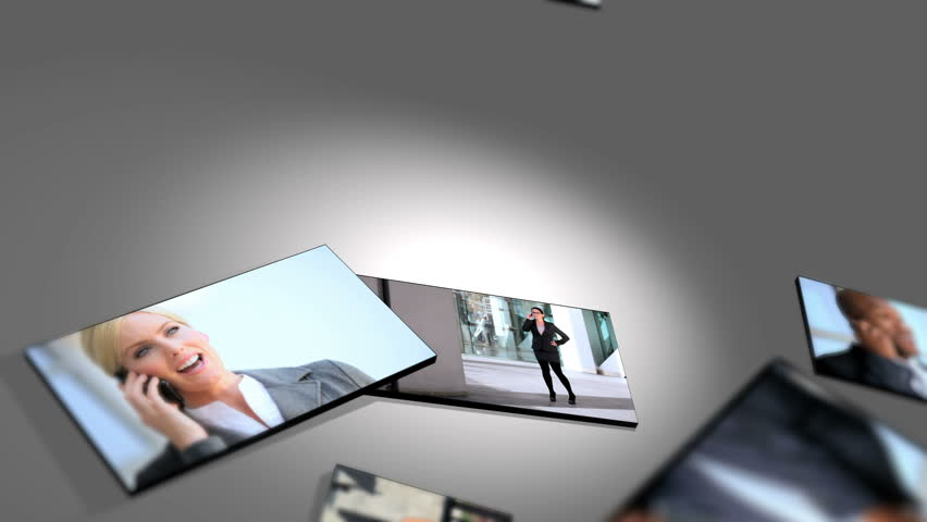 Montage multiple flat screen images business people | Shutterstock HD Video #2149553