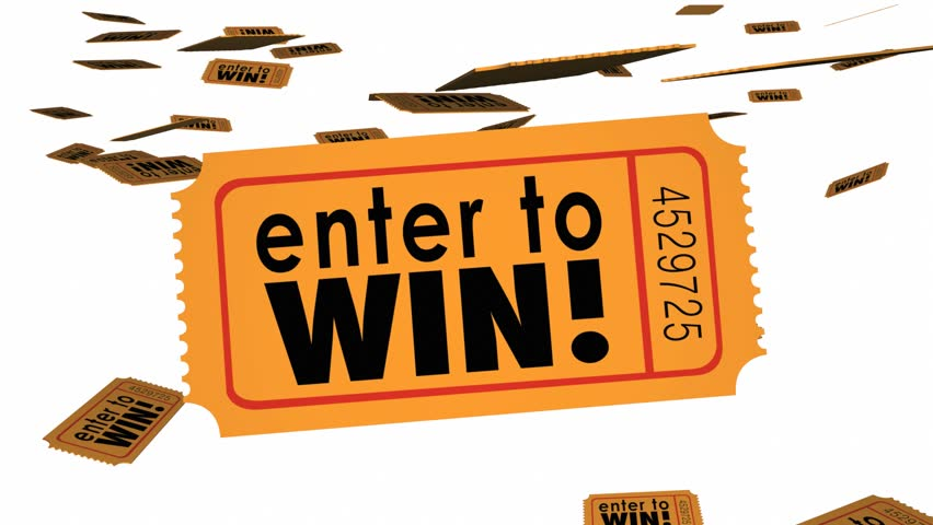 Enter to Win Contest Raffle Lottery Ticket Words Lucky 3d Animation