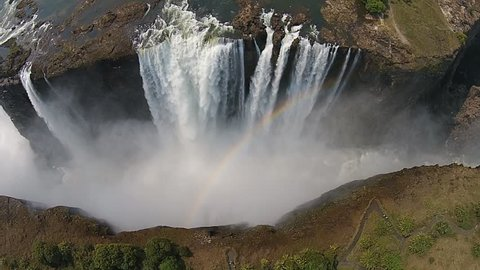 Aerial view of Victoria Falls, Africa.