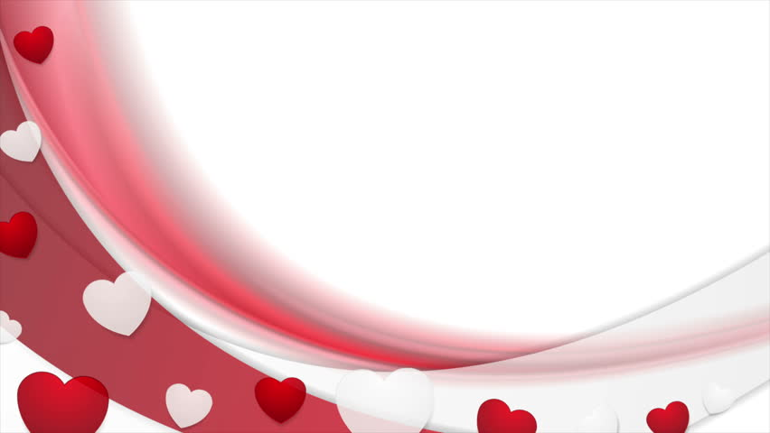 Clip Art Line Of Hearts : Motion graphic design with red waves and hearts video animation