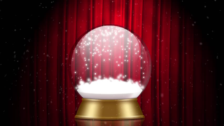 Snowglobe animation on a red stage | Shutterstock HD Video #21571393