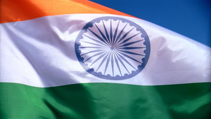 Closeup of India flag