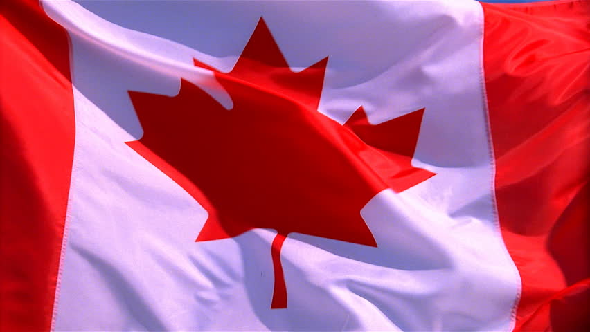 Closeup of Canada flag