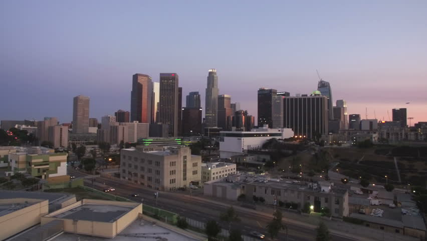 Los Angeles Downtown Sunset Aerial | Shutterstock HD Video #21646717