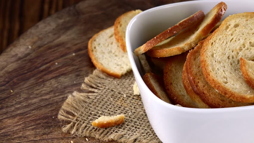 Rotating Bread Chips (not loopable; 4K UHD footage)   Shutterstock HD Video #21682513