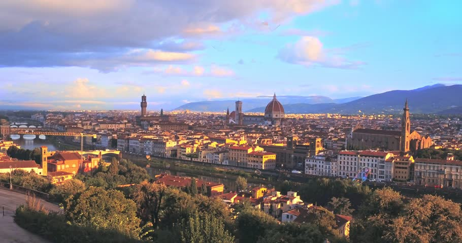 Aerial panoramic view of Florence with colorful bubble, Italy | Shutterstock HD Video #21700213