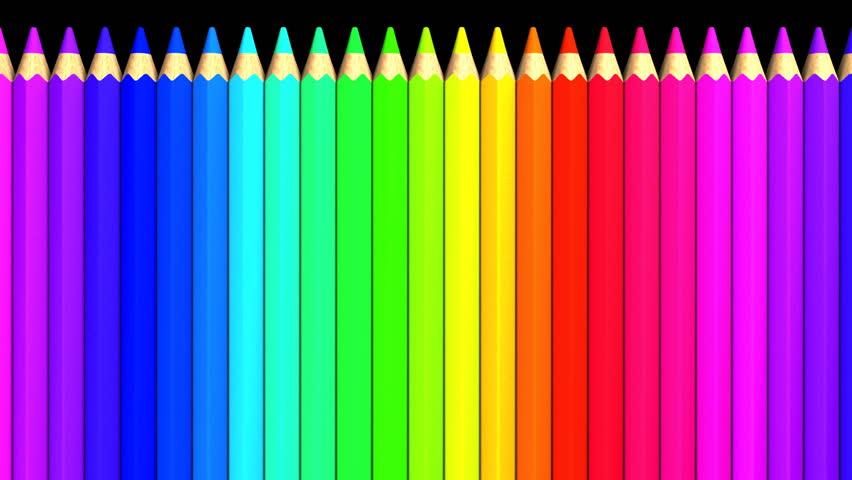 Color Pencils. Loop able 3DCG render Animation.   Shutterstock HD Video #21715153