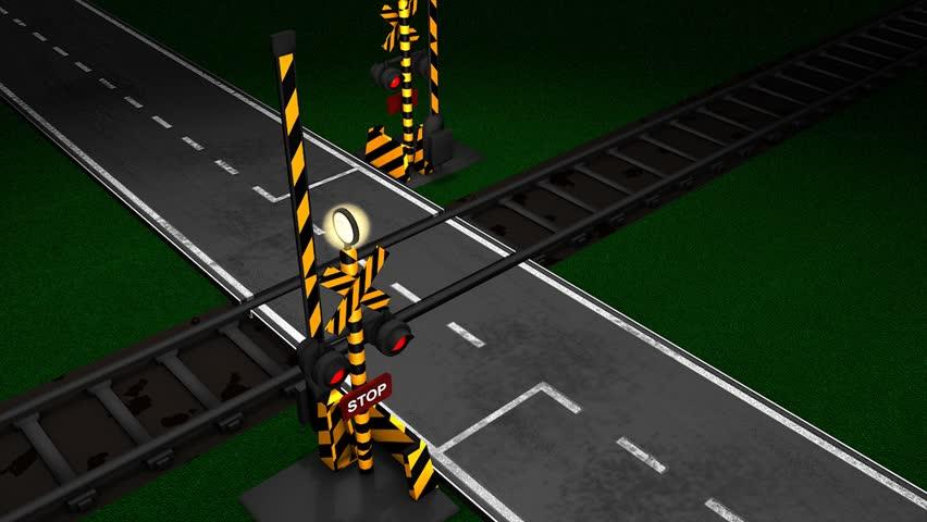 Railroad crossing animation.