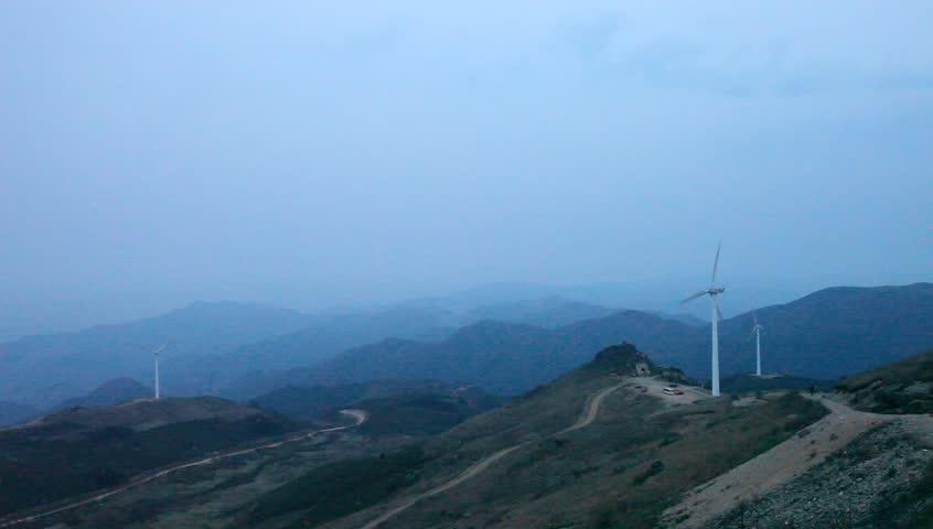 wind power generation on mountain