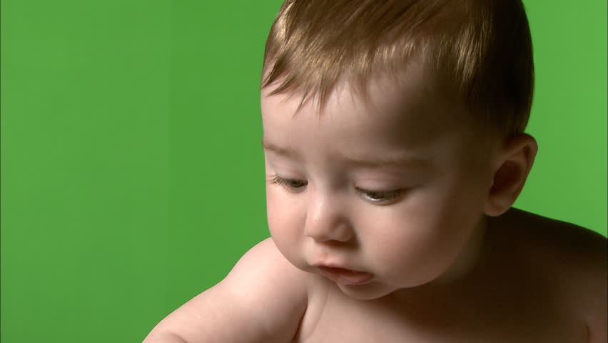 Green screen baby drooling
