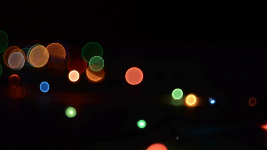 Green Light Effects Stock Footage Video: Light Effects On Black Background. Twinkling Bulbs Of