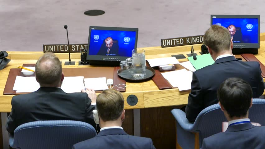 New York, United States -  November 16th 2016: United Nations Security Council Session | Shutterstock HD Video #21888310