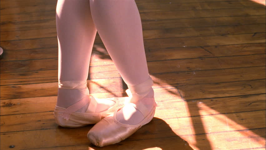 Closeup of ballerina's feet