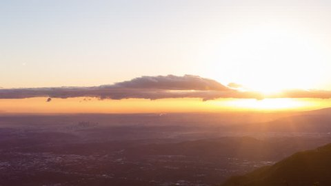 Los Angeles Sunset From Mount Wilson Wide Timelapse
