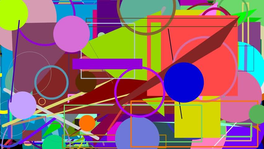 Random graphics shapes animation | Shutterstock HD Video #21961333
