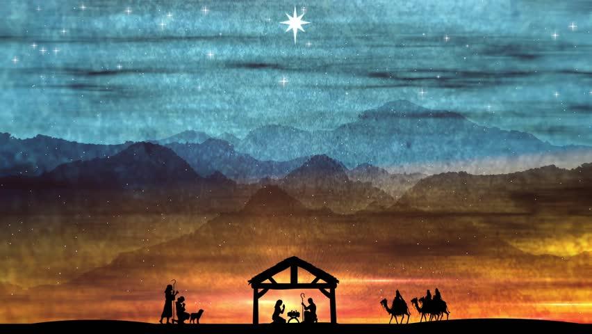 christmas nativity background stock footage video