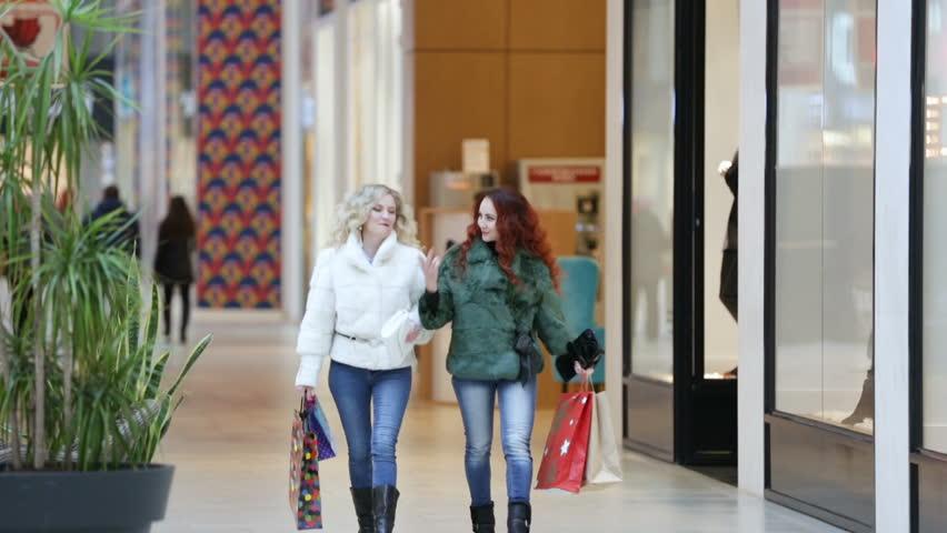 Pretty girls in a shopping center   Shutterstock HD Video #22062013
