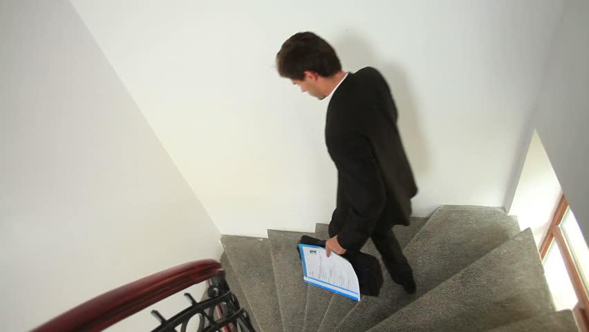 Young Businessman walking confident. Steadicam shot | Shutterstock HD Video #22070833