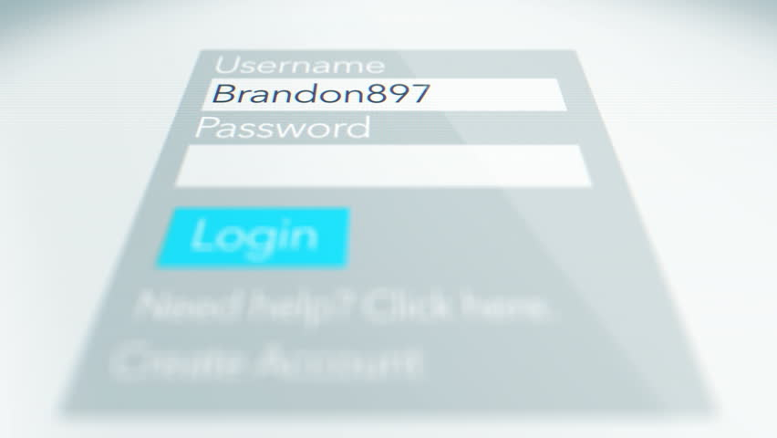 Submitting a new password on a website login form Username and Password for a Generic Log in form for website ALT December 2016 | Shutterstock HD Video #22099303