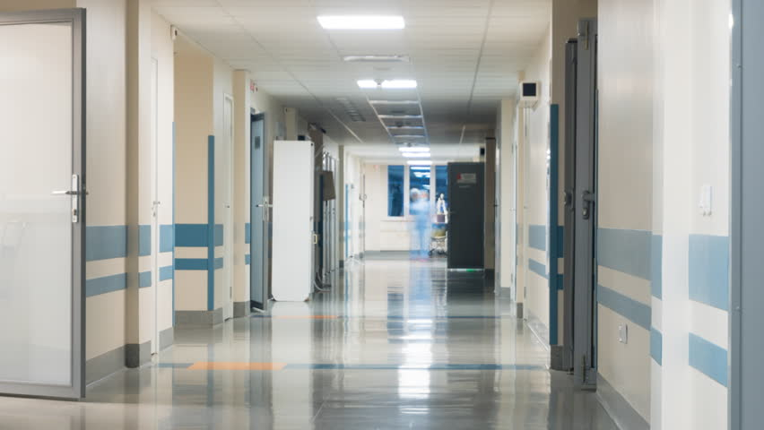 Medical Staff at the Hospital's Corridor. Timelapse  | Shutterstock HD Video #22130053