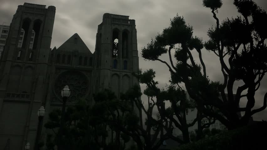 Grace cathedral in 2010. Timelapse of Grace Cathedral in San Francisco, California.