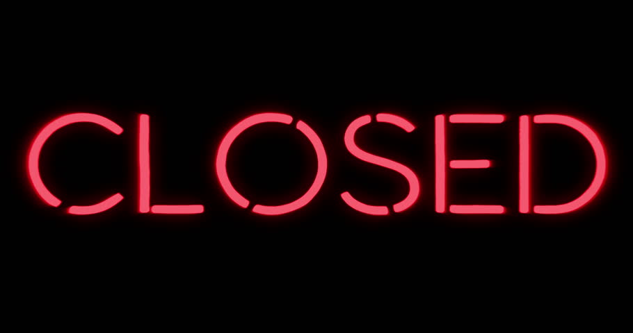 Closed And Open Flickering Neon Sign Stock Footage Video