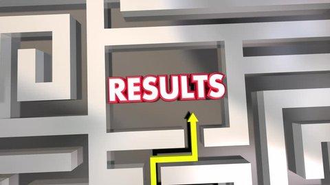 Results Reach End Goal Maze Outcome 3d Animation