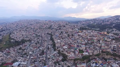 Aerial view of the suburbs in the metropolitan area of Mexico City. TAKE 3