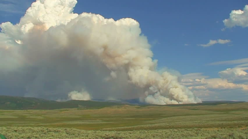 Time Lapse of New Fork Lakes Forest fire in Wyoming Bridger Teton National Forest north of Pinedale.