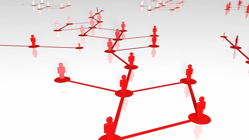 Network growing, creating red connections. 3D Rendering with low reflection. 4K.   Shutterstock HD Video #22388491