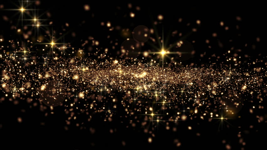 Beautiful Abstract Golden Particles Flying Seamless with Bokeh. Looped 3d Animation in Slow Motion. HD 1080. | Shutterstock HD Video #22392523