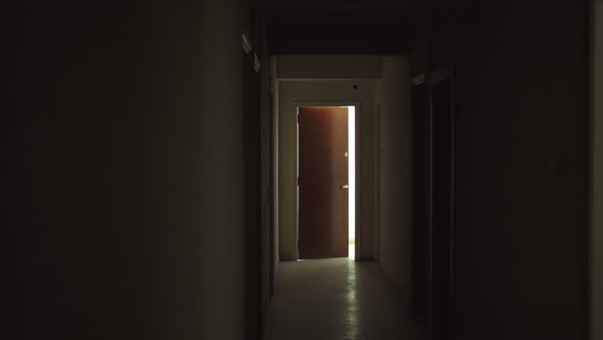 Old Dark Creepy Apartment Building,long Hallway, Gimbal Tracking Shot Stock  Footage Video 22428943 | Shutterstock