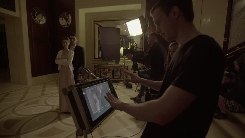 KYIV, UKRAINE - MAY 17, 2016. The film's Director manages the film-making process