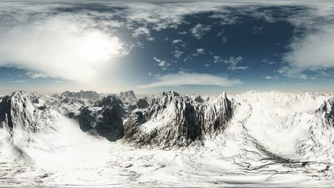 vr 360 aerial panorama of mountains made for virtual reality