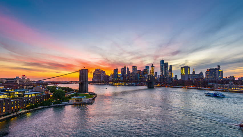 New York City time lapse from above the East River. | Shutterstock HD Video #22508677