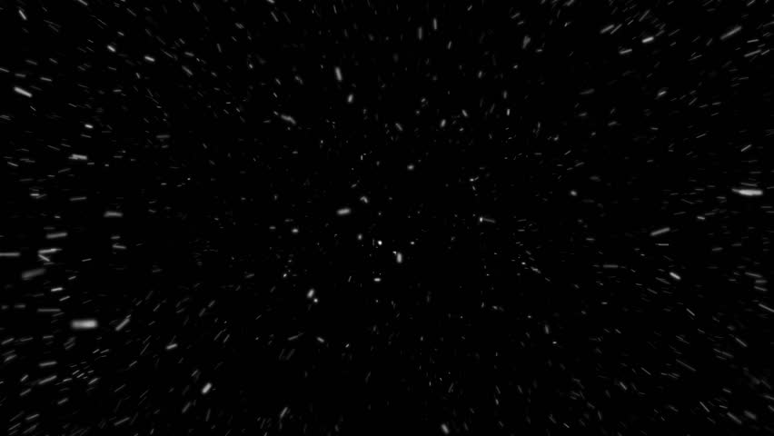 Snow and wind, snowstorm on black background